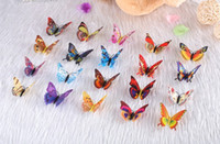 Wholesale Wholesale Butterfly Magnets - 9cm simulation butterfly fridge magnet sticker 20 pcs  bag mix color for Home decoration free shipping