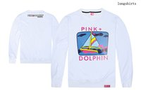 Wholesale Pink Dolphin Sweatshirts - Autumn and winter homens outono e inverno skate sudadera pink dolphin sweatshirt mens crewneck moletom masculino skateboard