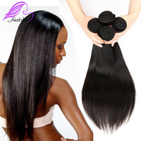 Wholesale Cheap Great Hair - 7A Great Quality Wholesale Brazilian Virgin Human Hair Weaves Cheap Brazilian Straight Natural Black 100% Human Hair Extensions,no shed