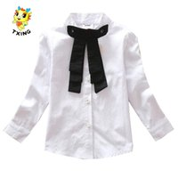 Wholesale Girls White Long Sleeve Blouse - Wholesale-3-8T White blouse for girls All for children's clothing and accessories New Shirt for girl blusa infantil long sleeves tops