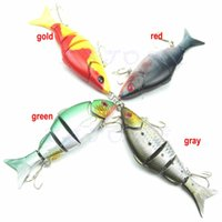 Wholesale Multi Jointed Fishing Lures - Free Shipping 1pc 1pc 4 Section Fake Bait Bass Crank Fishing Lure Multi Jointed Simulation Fish
