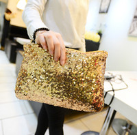 Wholesale Sparkle Clutch Purse - Free shipping New Dazzling Glitter Sparkling Bling Sequins Evening Party purse Bag Handbag Women Clutch wallet Retail