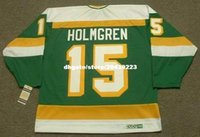 Commercio all'ingrosso personalizzato Throwback Mens PAUL HOLMGREN Minnesota North Stars 1984 CCM Vintage Cheap Retro Hockey Jersey