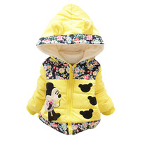 Wholesale Girls Winter Coats Minnie - Wholesale-1Pcs New 2015 Girls Korean fashion Style coats&Jacket ,,Kids winter thick Warm jackets,Baby Girls Minnie cartoon coat