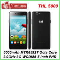 "Wholesale Thl Gorilla - Original THL 5000 MTK6592 Octa Core 2.0GHz 5.0"" 1080P FHD IPS Coning Gorilla Glass 3 Android 4.4 5000mAh 13.0MP NFC OTG Mobile"