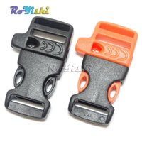 """Wholesale Side Release Buckles Whistle Wholesale - 100pcs lot 5 8""""(15mm) Emergency Side Release Whistle Buckles For Paracord Bracelet"""