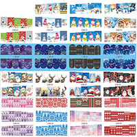 Al por mayor- SWEET TREND 48Sheets Nail Sticker Snowflake / Papá Noel / Bell / ciervos Navidad Nail Art Water Transfer Calcomanías Full Wraps BN205-252