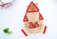 Wholesale Building Blocks Castle - Free Shipping Wooden 140Pcs Building Block Castle Toy ,Creative Educational Wooden Baby Toy for Children Birthday Gift