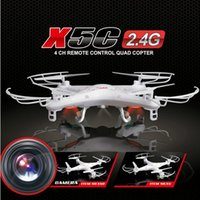 Wholesale Syma Rc Helicopter Free Shipping - Free Ship SYMA X5C RC helicopter Quadrocopter UFO drone with 2.0MP Camera Remote Control radio control toys 4CH 6Axis FSWB