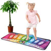Wholesale Music Piano Toys - Wholesale- Baby Music Mat Carpet Rainbow Piano Kids Electronic Organ Dancing Crawling Toys