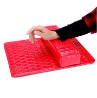 Wholesale Pro Pad Cushions - Pro Salon Hand Cushion Arm Rest Pillow + PU Leather Pad Nail Art Design Manicure Care Half Column