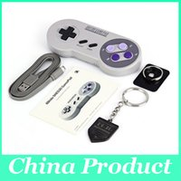Wholesale 8Bitdo SNES30 Wireless Bluetooth Gamepad Pro Game Controller for iOS Android Gamepad PC Mac Linux Retro Design
