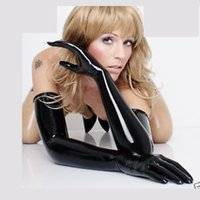 Wholesale Long Costume Gloves - Wholesale-free shipping new arrival !! latex LONG 3D gloves 100% natural made by dipped seamless long to shoulder free size