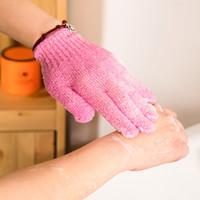 fühlte handschuhe großhandel-2016 wohlfühlen Neue Ankunft Wäscher Rutschfestigkeit Körpermassage Schwamm Handschuhe Dusche Peeling Bad Handschuhe Peeling Faser massagegerät