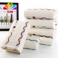 Wholesale Toalhas Banho Wholesale - Wholesale-Towel 34*75cm 100% Soft Cotton Toallas 1 Piece Bathroom Towel Toalhas De Banho Adulto Beach Serviette De Plage Towels FD165