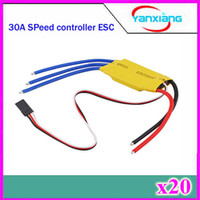 Wholesale Esc For Brushless Motor - 20pcs 30A ESC Brushless Motor Speed Controller Control For RC 250 450 Helicopter airplane Free shipping ZY-DJI-30A