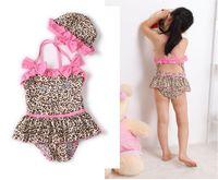 Wholesale Toddler Girl Wearing Swimsuit - New 2015 Infant Baby Girls Toddler Swimwear Leopard Bikini Kids Bathing Suit One-Piece Swimsuit swim wear TZX171