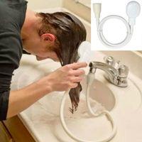 Wholesale 1 m Dog Shower Head Spray Drains Strainer Pet Bath Hose Sink Washing Hair Pet Hairdresser Hair Wash Pet Push Saving Shower