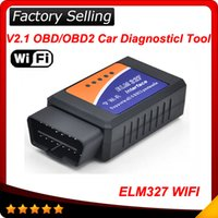 Wholesale Diagnostic Ipad - Free Shipping 2016 Newest ELM327 WIFI elm 327 Scanner OBDII OBD2 Auto Diagnostic Tool Support Iphone Ipad And Android And Windows 50pcs lot