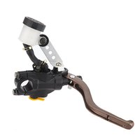 Wholesale Brake Lever Master Cylinder - Motorcycle Brake Master Cylinder 7 8 Inch Handlebars hydraulic brake Black Right