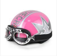 Wholesale Helmet Ibk - Wholesale-IBK.31 - Head protection Half Face Ebike Scooter Casco Motorcycle Matte Red # grapheme Helmet & UV Goggles Size M L XL