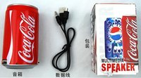 sprite cans - Cans Coke Pepsi Fanta Mini Speaker Up Sprite Beer Can Speakers USB Portable Sound Player Multimedia Speakers