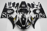 Wholesale Motorcycle Plastic Yamaha R6 - Injection Fairings For Yamaha YZF600 YZF R6 03 04 05 2003 - 2005 Plastics ABS Fairings Motorcycle Fairing Kit Bodywork Cowling Black Gold