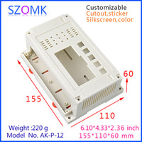 Wholesale Enclosure Housing Case - junction box abs plastic enclosure (1 pcs) 155*110*60mm instrument housing case pcb enclosure din rail plc enclosure AK-P-12