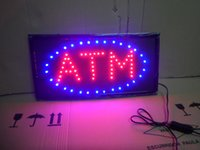 Wholesale Free Animated - 20PCS LOT Free Shipping Animated LED Business ATM SIGN +On Off Switch Bright Light