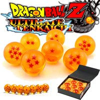 Wholesale Glass Dragon Balls Set - 3.5CM New In Box DragonBall 7 Stars Crystal Ball Set of 7 pcs Dragon Ball Z Balls Complete set
