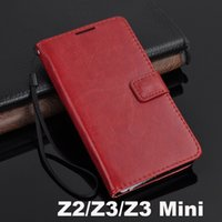 Wholesale Xperia Wallet - For Sony Xperia Z5  Z5 Compact  Z3   Z3 mini Vintage Retro Flip Stand Wallet Leather Case + Credit Card Holder Cover For Z3 Compact
