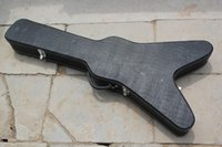 Wholesale hard case for sale - 2015 Hot Sale Factory Customized LP Electric Guitar Case Specialized for Flying V Shape Guitar