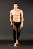 sıcak görmek iç çamaşırı ile toptan satış-Toptan-Yeni Sıcak Seksi erkek Uzun Termal Iç Çamaşırı Pantolon Pantolon Mesh Mens Erkekler Şeffaf Dipleri Düşük Rise Tayt See Through S M L