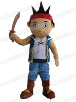 Wholesale costumes for pirates for sale - AM0628 Adult Size Jake the Pirate mascot costume Cartoon Mascot Costumes for Kids Birthday Party Deguisement Mascotte Custom Mascots at Aris