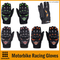 Wholesale 2015 New Motorbike Racing Gloves Motorcycle Men New Racing Bike Bicycle MTB Cycling Full Finger Protective Gloves Red Orange Green