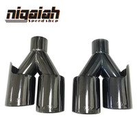 2 pezzi TOP quality Car tail pipe 304 Stainless M tip Universal Black End <b>End Tips</b> per BMW