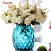 ingrosso fiori artificiali provengono per matrimoni-Crisantemo fiori artificiali seta crisantemo palla 10 steli falso bouquet di fiori per la decorazione di matrimoni