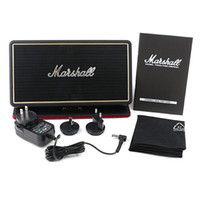 Wholesale flips speakers - Marshall STOCKWELL Portable Bluetooth Speaker With Flip Cover Case AAA Quality US AU EU Adapter with Package free DHL shipping