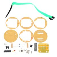 Wholesale SCM Awesome Transparent LED Watch DIY LED Digital Tube Wristwatch Electronic Watch DIY Kit E0699
