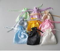 Wholesale Silk Gift Bag Drawstring - Jewelry pouch silk drawstring bags jewelry bags stain gift bags chocolate bags candy bags christmas gift bags wholesale