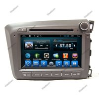 Wholesale Honda Civic Right - Double din car gps sat nav radio car dvd player support tpms car info mirror link glonass fit for Honda Civic Right