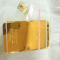 золотое издание iphone 24ct оптовых-24K Дубай Золотое покрытие задней крышки корпуса Кожа для iPhone 6 4,7