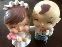 Wholesale Doll Ceramic - 2015 New Coming Mini Doll for DIY Wooden Dollhouse,Ceramic Couple Doll Toys for Children's Present Free Shipping