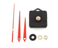 Wholesale set mechanism - New Arrive Quality Quartz Clock Movement Mechanism Parts Tool Set with Red Hands Silence