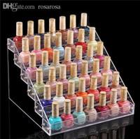 Wholesale Acrylic Nail Polish Racks - Wholesale-1pc Nail Polish Table Rack Display Manicure Pedicure Acrylic Beauty Holder medium 6 layer RA388