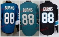 Wholesale Burn Free - #88 brent burns Hockey Jerseys ICE Winter mens women Stitched Jersey Free shipping