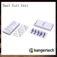 emow kangertech aerotank großhandel-Neue Kanger Dual Coil Einheit für Kangertech Aerotank Mega Aerotank Mini Evod Glas Protank3 Mini EMOW Cartomizer 100% Original