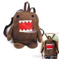 Wholesale Domo Kun Bag Style - Newest Domo Kun Figure Cartoon Cute Plush Backpack Soft Shoulder Bag School Brown free shipping A3