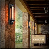 Wholesale european light switch - European Designer Lamp American Retro RH Loft Grand Caged Sconce Alcatraz Iron Wall Light For Hallway Balcony Aisle Bedroom