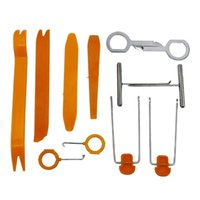 Wholesale Panel Clip Remover - 12pcs Auto Car Radio Door Panel Clip Trim Remover Removal Pry Tool Kit